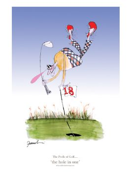 The Hole in One - signed print